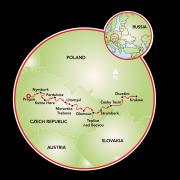 Prague to Krakow Map