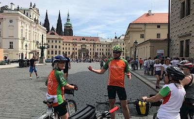 TripSite's Hennis cycling through Prague, Czech Republic.