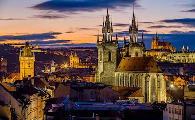 Prague from Powder Tower in Czech Republic. CC:Jiuguang Wang