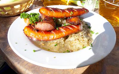 Sausages & sauerkraut in Poland. Flickr:Dave Collier