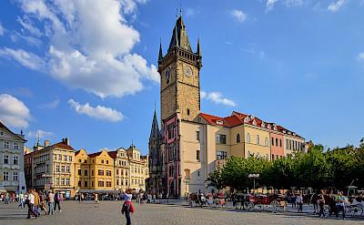 Main Square in Prague, Czech Republic. Flickr:Pedro Szekely