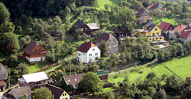 Hillside homes in Stramberk in the Moravian-Silesian Region of the Czech Republic. Photo via Flickr:Jan Kalab
