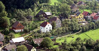 Hillside homes in Stramberk in the Moravian-Silesian Region of the Czech Republic. Photo via Flickr:Jan Kalab