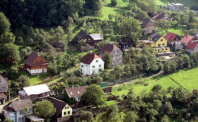 Hillside homes in Stramberk, Moravian-Silesian Region, Czech Republic. Flickr:Jan Kalab