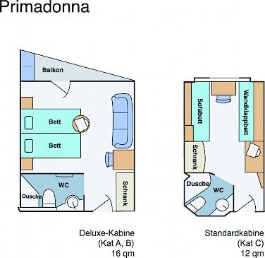 Deck plan - MS Primadonna | Bike & Boat Tours