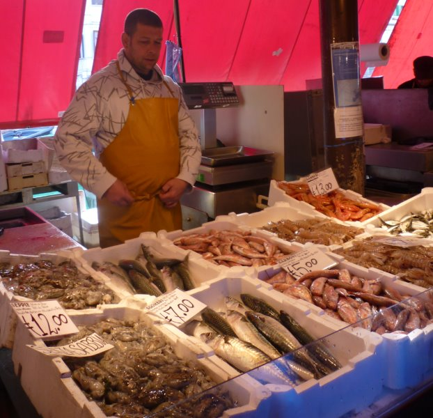 The Choggia fish market
