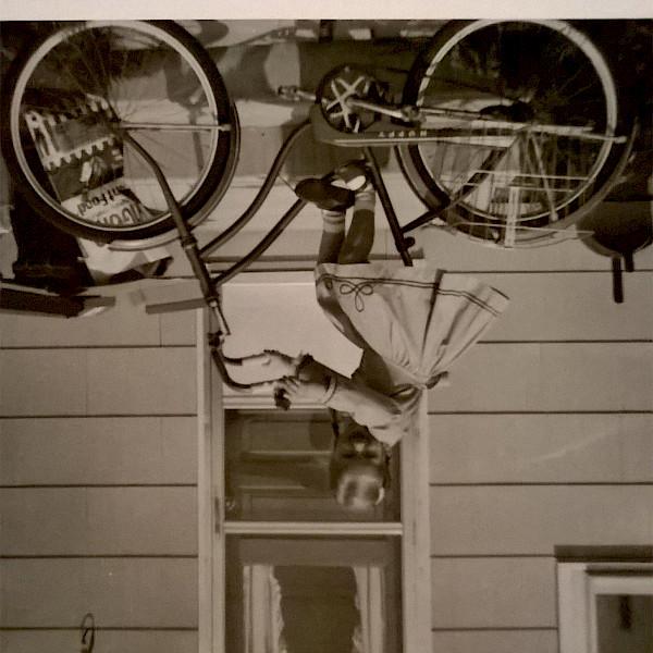 Old photo on Bike.