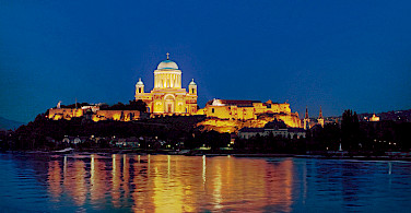 Nighttime in Esztergom, Hungary. Photo courtesy of Donau Touristik