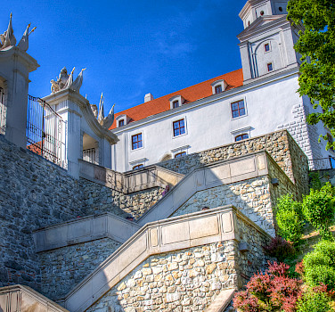 Bratislava Castle along the Danube in Slovakia. Photo courtesy of Donau Touristik