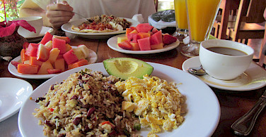 Breakfast in San Jose, Costa Rica. Photo via Flickr:fruitcakebridgade