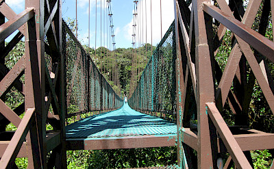 Bridge at Monteverde Cloud Forest Reserve, Costa Rica. Photo via Flickr:benet2006