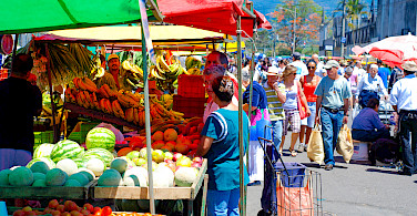 Farmer's market in San Jose, Costa Rica. Photo via Flickr:Everjean