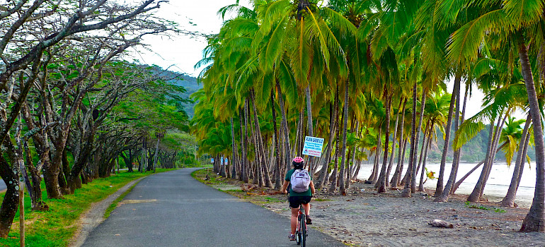 Biking along Samara Beach, Costa Rica. Photo via Flickr:Marissa Strniste