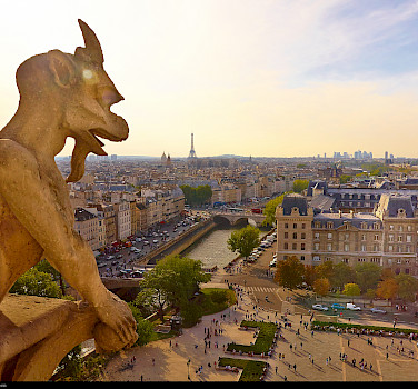 Notre Dame gargoyle in Paris, of course! Photo via Flickr:Moyan Brenn