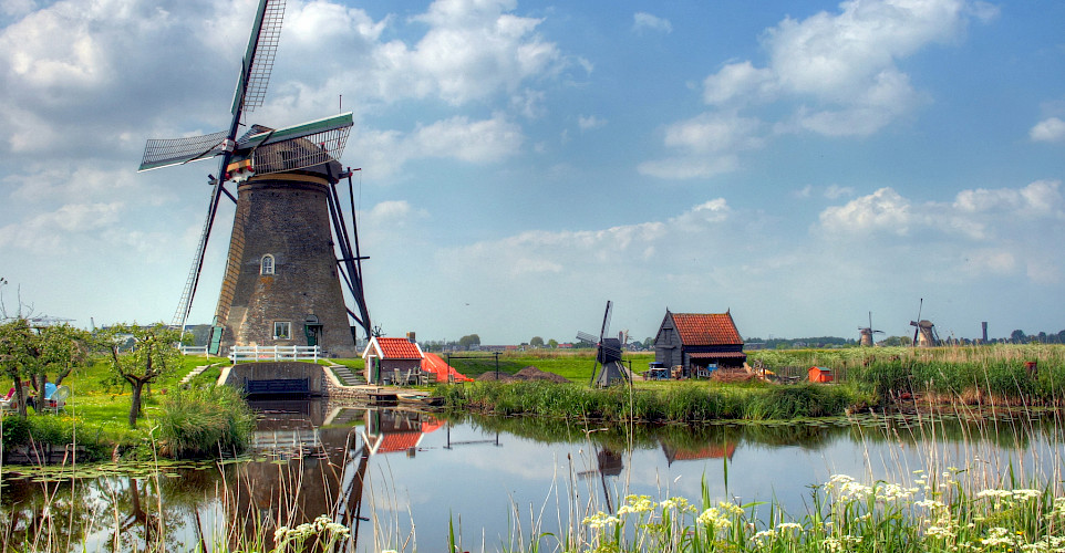 Windmills in Kinderdijk, South Holland, the Netherlands. Flickr:John Morgan