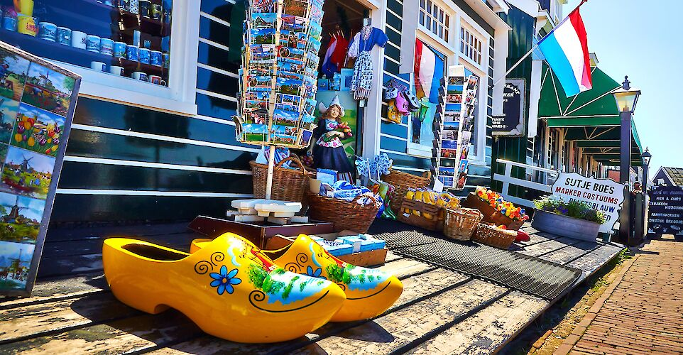 "Gift shop with ""klompen"" in Marken, North Holland, the Netherlands. Flickr:Moyan Brenn"