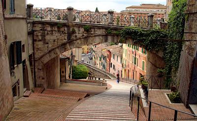 Medieval aqueduct in Perugia, Italy. CC:Scudsone