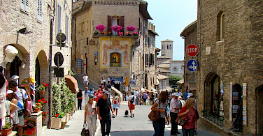 Town of Assisi in the province of Perugia and region of Umbria, Italy. Photo via Flickr:Bob Hall