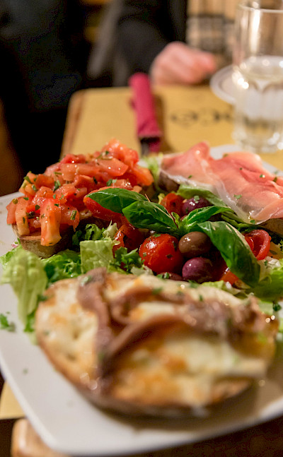 Bruschetta in Rome, Italy. Flickr:Marco Verch