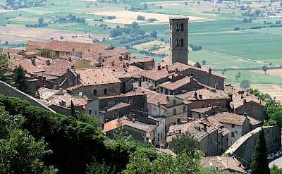 Scenic Cortona in Arezzo, Tuscany, Italy. CC:Patrick Denker