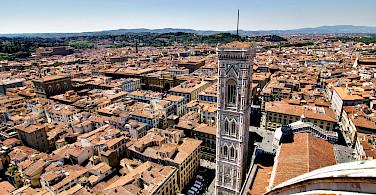 View from the Duomo, Florence, Tuscany, Italy. Photo via Flickr:Artur Staszewski