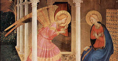 <i>Annunciation</i> by Fra Angelico, great example of Etruscan Art.
