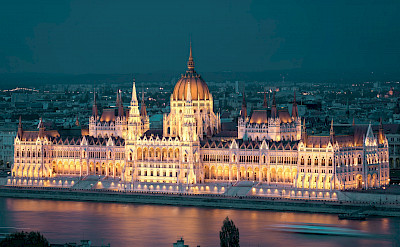 Danube River runs through Budapest (Buda & Pest) in Hungary. Flickr:Keith Yahl
