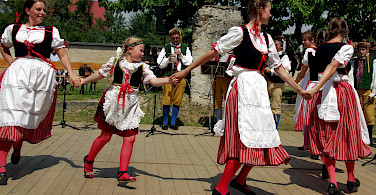 Folklore Dancing in Jindrichuv Hradec, Czech Republic. Photo via Flickr:Donald Judge