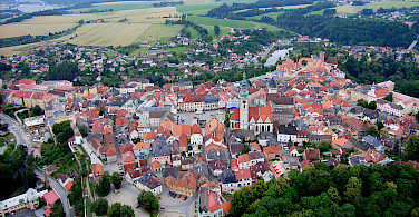 Old Town of Tábor, Czech Republic. Photo via Wikimedia Commons:Rudolf