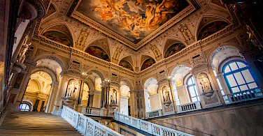 Vienna is knows for its lavish interiors. Here in the Natural History Musem. Photo via Flickr:mendhak