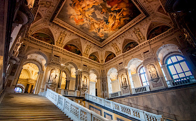 Vienna is knows for its lavish interiors. Here in the Natural History Musem. Flickr:mendhak