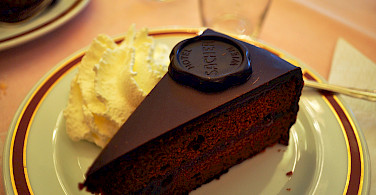 The famous Sacher-Torte in Vienna, Austria. Photo via Flickr:Kelly Schott