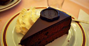 The famous Sacher-Torte in Vienna, Austria. Photo via Flickr:Kelly Schott