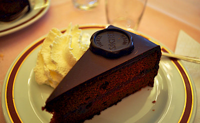 The famous Sacher-Torte in Vienna, Austria. Flickr:Kelly Schott