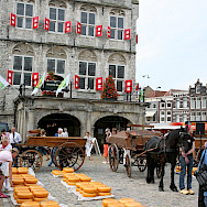 Famous cheese market in Gouda, South Holland, the Netherlands. Photo via Flickr:bert knottenbeld