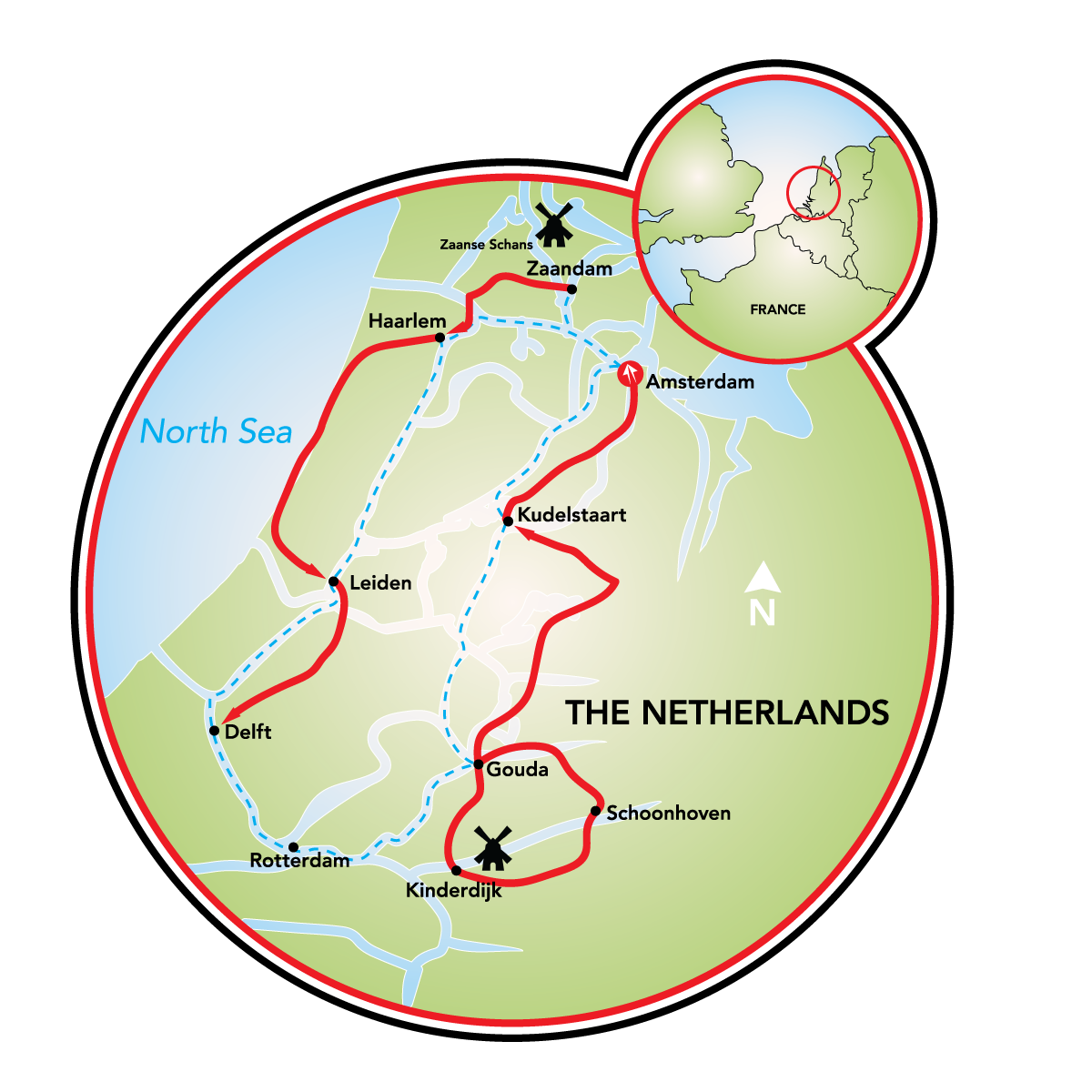 Heart of Holland Bike and Boat Tour Netherlands Tripsite