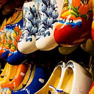 Klompen for sale at the Zaanse Schans on the River Zaan, North Holland, the Netherlands. Photo via Flickr:Zicario van Aalderen