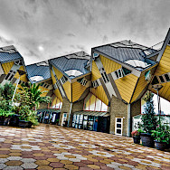Cube houses in Rotterdam, South Holland, the Netherlands. Photo via Flickr:Andrea Depoda