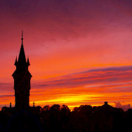Sunset over Schoonhoven in South Holland, the Netherlands. Photo via Flickr:Diet Bos