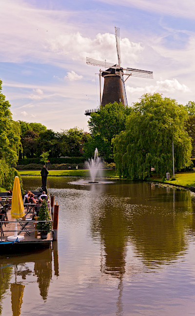 Windmill in Leiden, South Holland, the Netherlands. Flickr:Tambako the Jaguar
