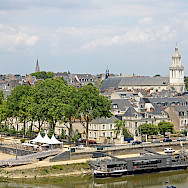 Traditional gray roofs define this whole region. Angers, Maine River, Loire Valley, France. Flickr:Dennis Jarvis