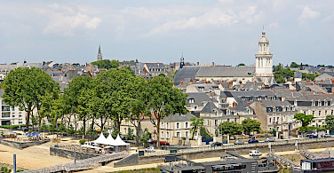 Traditional gray roofs define this whole region. Angers, Maine River, Loire Valley, France. Photo via Flickr:Dennis Jarvis