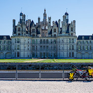 Bike rest at Château de Chambord, Loire Valley, France. Flickr:Milestone Rides