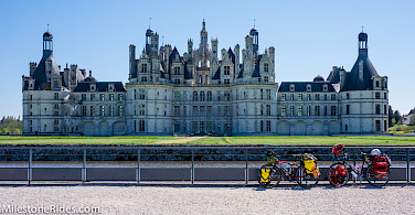 Bike rest at Château de Chambord, Loire Valley, France. Photo via Flickr:Milestone Rides