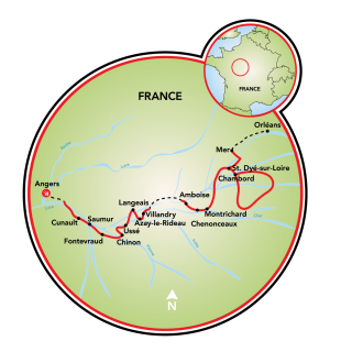 Guided Castles of the Loire Map