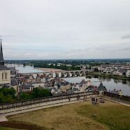 Overlooking Saumur along the Loire and Thouet Rivers, Loire Valley, France. Flickr:Moto Itinerari