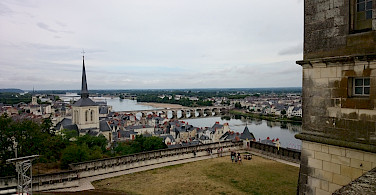 Overlooking Saumur along the Loire and Thouet Rivers, Loire Valley, France. Photo via Flickr:Moto Itinerari