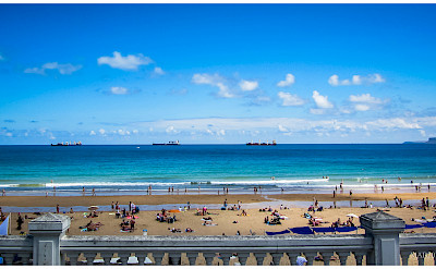 Beautiful beach in Playa de El Sardinero, Spain. Photo via Flickr:Miguel Angel Blazquez