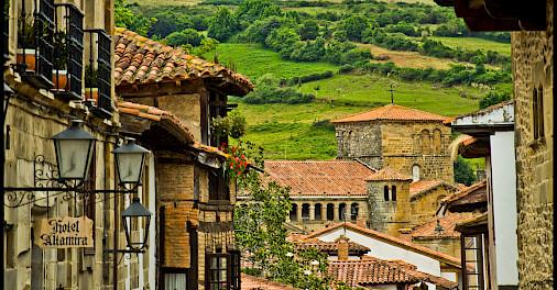 Green hills of Santillana del Mar, Cantabria, Spain. Photo via Flickr:Guillen Perez