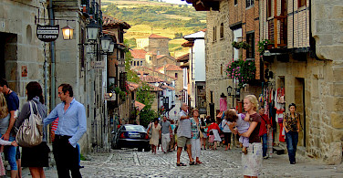 Shopping street in Santillana del Mar, Cantabria, Spain. Photo via Flickr:Oleg Sidorenko
